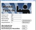 Bodyfat calculator for men - Windows Vista Widget Screenshot 0