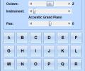 Use Computer Keyboard As MIDI Musical Instruments Software Screenshot 0